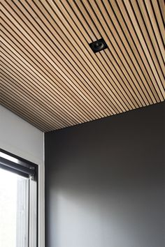 "🧲""Luck is a dividend of sweat. The more you sweat, the luckier you get."" 🧲""Luck is a dividend of sweat. The more you sweat, the luckier you get. Wood Slat Ceiling, Wood Slat Wall, Wooden Ceilings, Wood Slats, Basement Ceilings, Design Hotel, House Design, Office Shelving, Plafond Design"