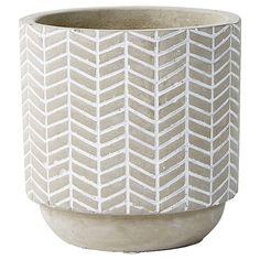 Cement Hold-It Pot - Zig Zag | Target Australia