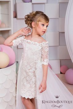 Ivoire Cappuccino Flower Girl Dress Holiday Party demoiselle