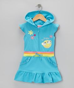 Take a look at this Blue Be Happy Ruffle Romper - Infant, Toddler & Girls by 2B Real on #zulily today!