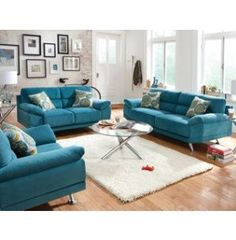Lagoon Collection   Fabric Furniture Sets   Living Rooms   Art Van ...THE  VIVID TEAL CONTEMPORARY LIVINGROOM SET WOULD BE GORGEOUS WITH A PEACOCK  DECOR AND ...