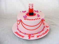 Simple Peppa Pig Cake by My Cake Place http://www.mycakeplace.com.au/