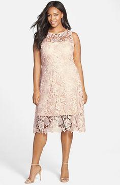 Beautiful! Plus Size Sleeveless Lace Sheath Dress