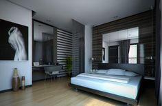 Contemporary Bedroom Design for a Man - voor meer slaapkamer inspiratie kijk ook eens op http://www.wonenonline.nl/slaapkamers/