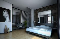Mens Bedroom Decorating Ideas with Modern Style Picture