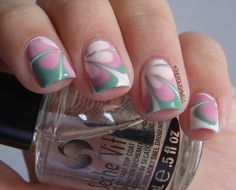 nail-art-water-marbling01 by The Polish Well, via Flickr
