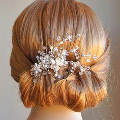 Bridal Hair Accessories Crystal Wedding Hair by GlamorousBijoux