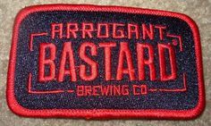 Stone Brewing Red Black Arrogant Bastard Gargoyle Logo Patch Iron on Craft Beer | eBay