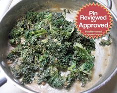 Creamy Tahini Kale. A super health recipe. How did it turn out?