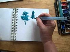 Watercolor brushmarks for quick sketching