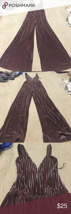 Zara jumpsuit Size small velvet jumpsuit. Only worn off once Zara Other
