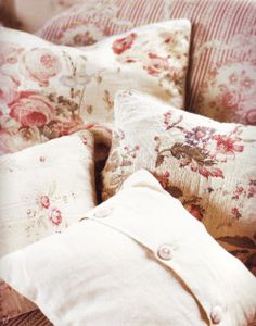 rose cottage pillows