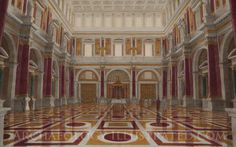 Rome, Palatine Hill, Aula Regia (reception hall of Domitian) late 1st century AD by Balage Balogh/www.Archaeologyillustrated.com