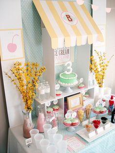 Ice Cream Parlor Birthday Party via Kara's Party Ideas   KarasPartyIdeas.com (16)