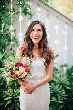 these wildflowers and bride are radiating joy  #cedarwoodweddings