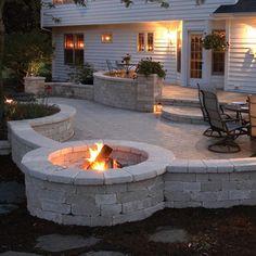 Backyard Retaining Walls, Retaining Wall Blocks, Sloped Yard, Sloped Backyard, Stone Deck, Stone Patios, Backyard Patio Designs, Stone Patio Designs, Raised Patio