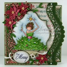 Be Merry 3-Step Card (view 1 of 2 - card front) by Norma25 - Cards and Paper Crafts at Splitcoaststampers