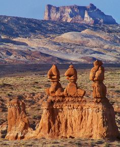 """Temple Mount -- Goblin Valley State Park, UT: """"the geology of goblin valley state park by mark milligan: informative and enlightening."""
