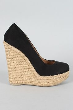 7bedce71504d Delicious Glow-S Round Toe Espadrille Wedge