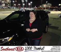 https://flic.kr/p/DRMsZX | Happy Anniversary to Laura on your #Kia #Sorento from Jerry Tonubbee at Southwest Kia Mesquite! | deliverymaxx.com/DealerReviews.aspx?DealerCode=VNDX
