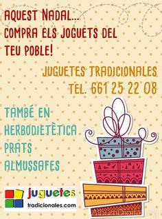 Cartel de Navidad para nuestros clientes de Almussafes (Valencia). www.juguetestradicionales.com
