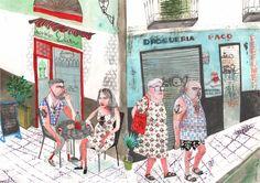 aquí y en otro lugar, ana peñas - estudio64//// librería/galería especializada en ilustración