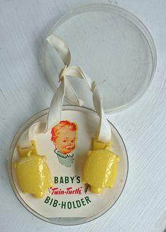 Cutest vintage baby bib holders!