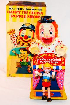 Pinocchio and Jack-in-the-Box through the eyes of Post-War Japan (made by Yonezawa sometime in the 1950s)