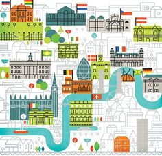 """Galen Nolan """"Parko Polo"""" by Edward McGowan. A map of Olympic parties in London created for for the London Evening Standard."""