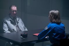 'Fargo' finale - determined heroine Gloria Burgle (Carrie Coon) & villain VM Varga (David Thewlis) find themselves in an interview room standoff, with Burgle waiting for him to be carted off to jail and Varga anticipating his imminent release....Burgle reveals in Wed.'s season finale that her idea of paradise is a deep-fried candy bar at the Minnesota State Fair.