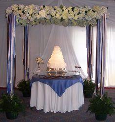 Cake table decor' by Kebbie Hollingsworth Floral Design