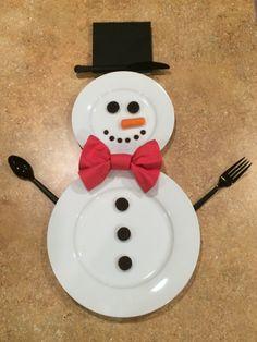 Snowman Place Setting