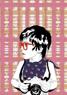 Red Glasses Art Print @Anna Totten Killian my future nephew