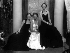 Princess Marina, Princess Elizabeth and Princess Olga of Greece and Denmark.