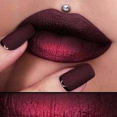 These days ombre lips are not something that will surprise you but unlike all the other ombre trends it is still quite fresh. That is why you need some fresh looks to get inspired from so that you look unique and irresistible – you have come to the right place! #lips #lipstick #makeupideas
