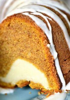 Cream Cheese Filled Pumpkin Bundt Cake!