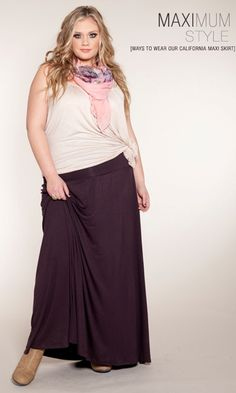 Plus Size Fashion ~ Plus Size Maxi Skirt at www.curvaliciousclothes.com Sizes 1X-5X