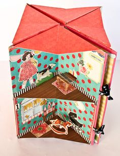 <3 doll house in a book tutorial  # explications: http://crate.typepad.com/cratepaper/2011/05/crate-dyi-remake-of-home.html?cid=6a00e55210ddf58834015392846fe0970b#comment-6a00e55210ddf58834015392846fe0970b