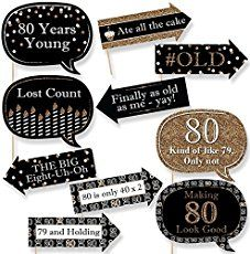 80th birthday party photo cupcake toppers Moms 80th Birthday