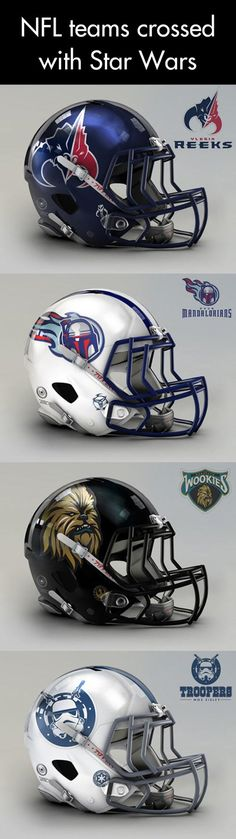 NFL meets Star Wars… but I seriously question the choice of Jedis and Rebels. This should be a Madden mod.