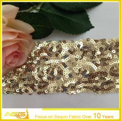 ACG--3mm Shinning Gold Sequin Fabric  gzacg.rita@gmail.com