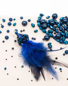 BLUE FEATHER DROP | cercei statement cu pene Blue Feather, Drop, Model, Scale Model, Pattern, Models, Modeling, Mockup