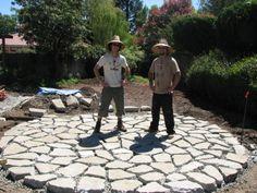 Proud creators of a circular urbanite patio