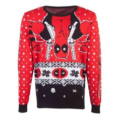 Buy Marvel Deadpool Knitted Christmas Sweater, Unisex, Extra Extra Large, Multi-colour - For Only VAT) Online from SmartTeck. See our other Marvel products. Christmas Knitting, Christmas Sweaters, Deadpool Christmas, Avengers Team, Marvel Coloring, Tie Dye T Shirts, Unisex, Sleeve Styles, Hoodie