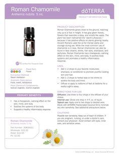 doTERRA Wellness Advocate: get discount for all the essential oils! Essential Oils 101, Essential Oil Diffuser, Essential Oil Blends, Doterra Roman Chamomile, Chamomile Essential Oil, Chamomile Oil, Melaleuca, Camomille Romaine, Doterra Oils