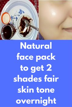 Natural face pack to get 2 shades fair skin tone overnight We all want to look beautiful always, although there are many cosmetics that make you pretty in just few minutes but it is just a temporary solution. Here is when natural remedies comes into picture, like cosmetics natural things will not give you beautiful skin for just few minutes, results will be permanent and believe …