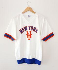8d2be0ebcbd64e Vintage 80 s New York Mets Garan Jersey SZ M