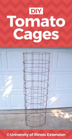 DIY Tomato Cages - pdf with step-by-step instructions!