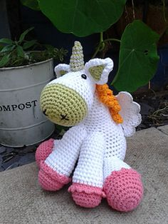This is a very cute project for a gift or to keep for yourself. I created this pattern to make for a friend who was having a baby girl. I then did the same pattern for a baby boy and just changed the colours. It is very versatile for any age group. I thoroughly enjoyed making this unicorn, i hope you do too.