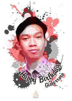 birthday card graphic design artwork art design photoshop splash